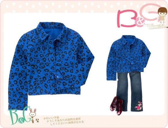 【B& G童裝】正品美國進口Crazy8 斑馬紋圖樣藍色格紋布外套M,L號6-8,8-10yrs