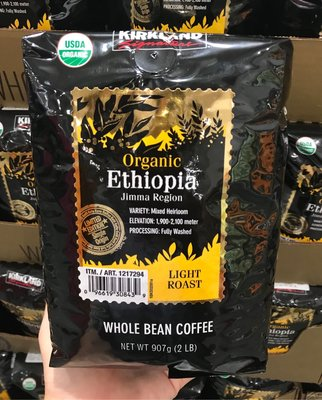 Costco好市多 KIRKLAND 科克蘭 有機衣索匹亞咖啡豆 907g  USDA organic coffee