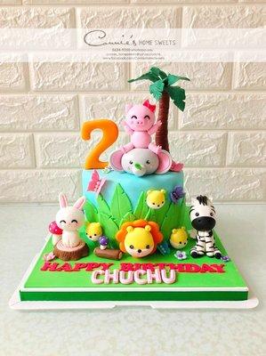 【Connie's Home Sweets】動物蛋糕 Animal Cake 豬女兔仔 生日蛋糕 Birthday Cake 3D Cake 來圖訂造 自訂主題