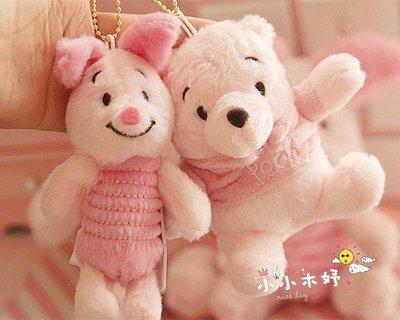 日系 SAKURA 櫻花限定版 粉紅維尼小熊 皮杰豬 皮傑豬 迪士尼 毛絨娃娃 吊飾掛飾 生日禮物/單一隻價
