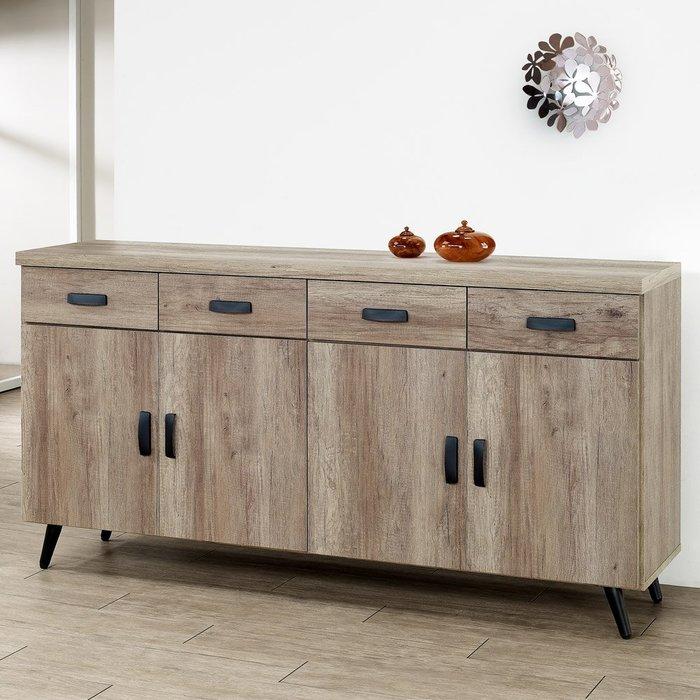 布里安5.3尺餐櫃(古橡木) 碗盤收納 置物櫃 【Yostyle】CB-1861-P18