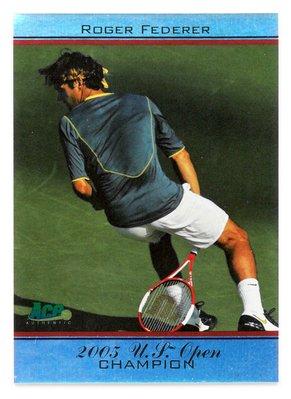 Roger Federer 費德勒 2005年美網冠軍紀念球員卡