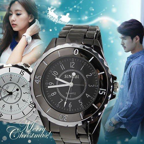 【2支贈盒】對錶中性錶 SINOBI 日韓熱賣時尚款 最佳禮物 ☆匠子工坊☆【UT0016】