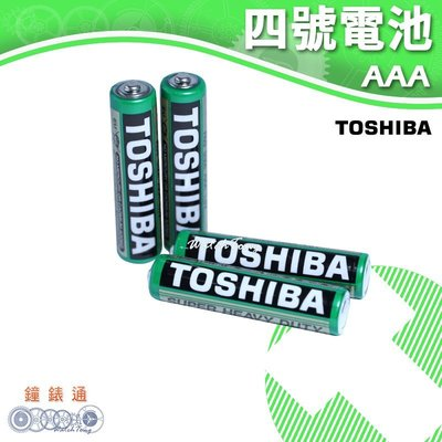 【鐘錶通】TOSHIBA 東芝-4號電池 (4入) / 碳鋅電池 / 乾電池 / 環保電池