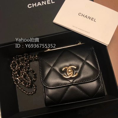 Simon二手正品Chanel 香奈兒 Mini Trendy CC 菱格小方包 羊皮 A81633  鏈條卡包大菱格