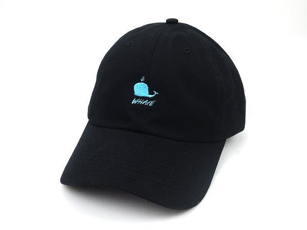 ☆二鹿帽飾☆ (鯨魚 WHAVE)立體棉質 老帽/流行棒球帽/休閒帽最新帽款/帽簷 7.5cm-黑色