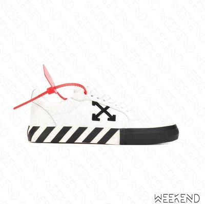 【WEEKEND】 OFF WHITE Low Vulcanized Arrows 皮革 箭頭 休閒鞋 白色 20春夏