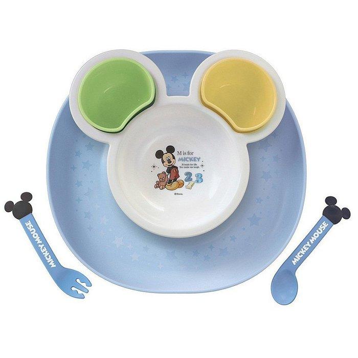 ^燕子部屋 ^ 日本製迪士尼【 米奇】  塑膠造型餐盤餐具組