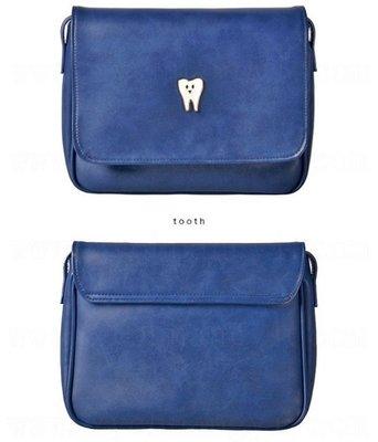 〔轉賣〕HINT系列藍色牙齒圖案肩背小方包
