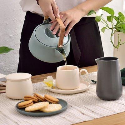 北歐簡約啞光霧面茶具 居家餐廳陶瓷下午茶咖啡杯茶具(糖盅*1)_☆優購好SoGood☆