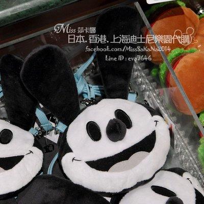 Miss莎卡娜代購【東京迪士尼】﹝預購﹞幸運兔奧斯華 絨毛娃娃大頭造型 票夾卡套 票卡夾 斜背零錢包