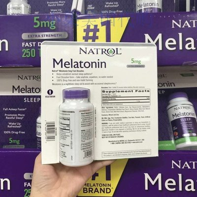 【貓兒美國代購】美國原裝 Natrol Melatonin褪黑素松果體素5mg 250粒 草莓味