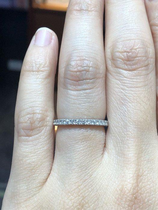 62分天然鉑金鑽石戒指,整圈滿鑽造型線戒,採用高等級鑽石,閃亮耀眼,香港金工,超值優惠價38800