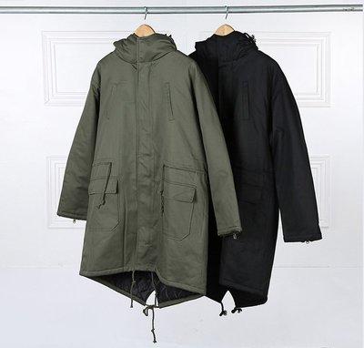 Cover Taiwan 官方直營 連帽外套 長版 鋪棉 風衣 大衣 燕尾外套 魚尾外套 M51 軍綠色 黑色 (預購) 台北市
