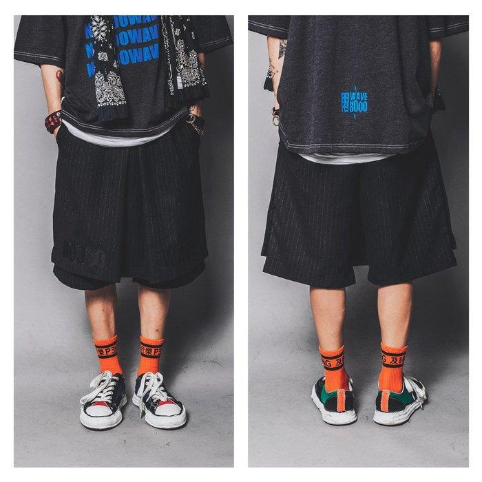 美國東村【SLIGHTLY NUMB】THE CLOSET SHORTS 直條 字母 片裙 短褲