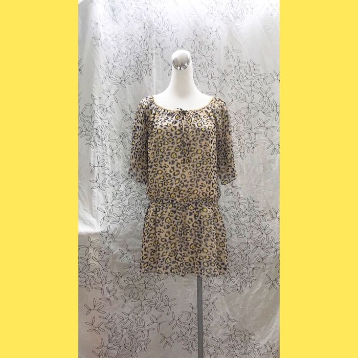 《DITA》豹紋美洋裝 秋冬美衣上架 詳閱敍述 實拍