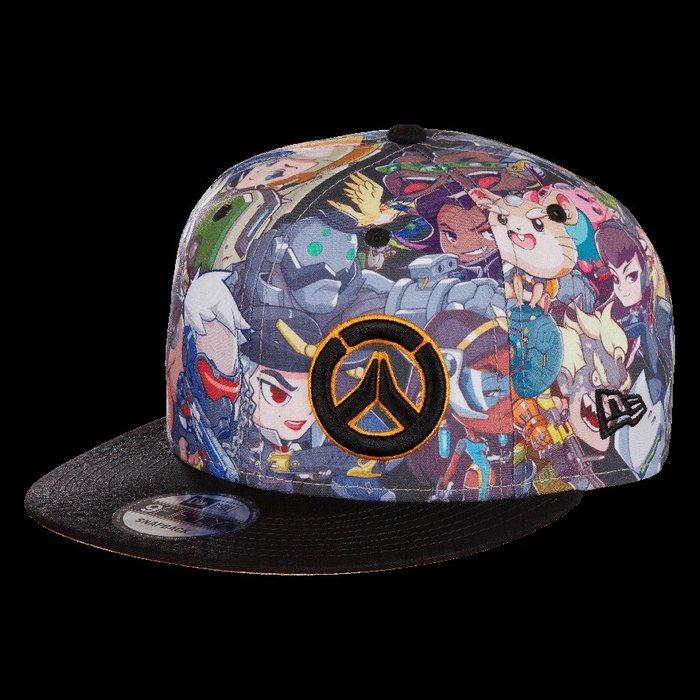 【丹】暴雪商城_Overwatch Cute But Deadly Snapback Hat 鬥陣特攻 Q版 角色 帽子