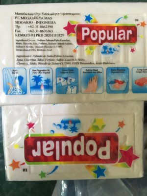 印尼popular洗衣皂印尼 泡辣 洗衣皂 純天然棕櫚油 去污皂 洗澡 洗衣 洗淨效果好 洗黑手衣物反應不錯