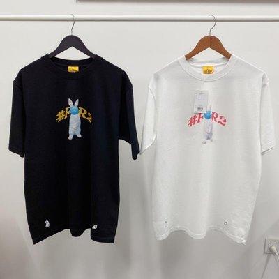 日本fr2色情兔子smoking skill新款21SS 性交口罩保持社交距離男女黑白色短袖T恤 tee