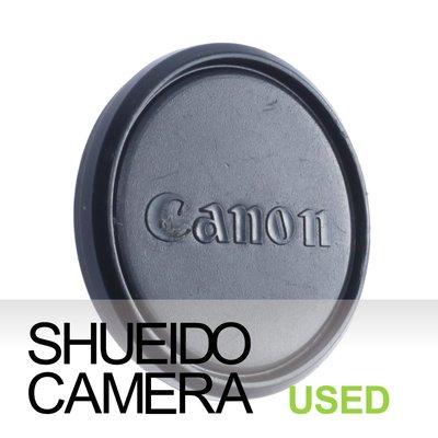 集英堂写真機【1個月保固】中古良上品 / CANON 49mm 原廠鏡頭前蓋 黑色 #56 16631