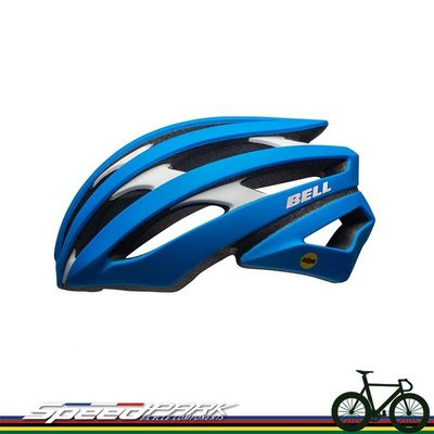 【速度公園】Bell 美國品牌 Stratus頂級自行車安全帽 公路車 登山車 單速車 安全帽 消光藍/白-M/L