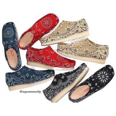 【紐約范特西】預購 SUPREME SS19 Clarks Originals Bandana Wallabee 印花鞋