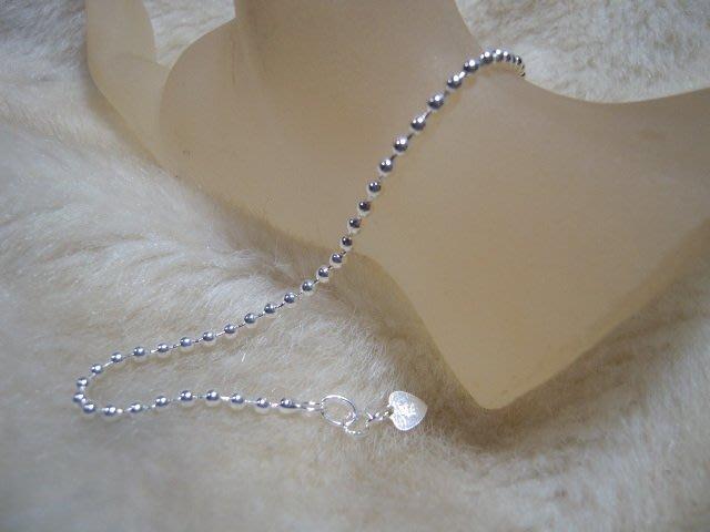 ※水晶玫瑰※ 990純銀圓珠手鏈(RD111A)