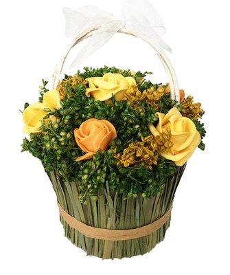 ~~尚盈家飾~~ 斯里蘭卡提籃草盆栽 大  仿真乾燥花 拍攝道具 婚禮布置捧花裝飾 裝潢擺飾 居家店面布
