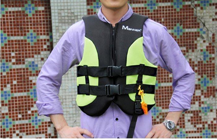 【綠色運動】豪華成人救生衣QP2016草綠色M碼 浮力衣 漂流衣 充氣船/橡皮艇必備 Manner