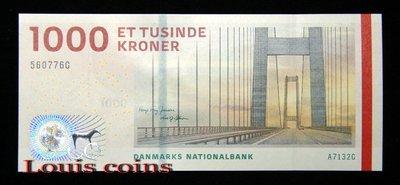 【Louis Coins】B487-DENMARK--2009丹麥紙幣1000 Kroner