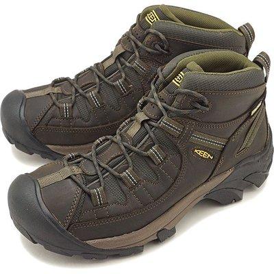 =CodE= KEEN TARGHEE MID WP 防水皮革戶外登山鞋(咖啡)1017346 WATERPROOF 男