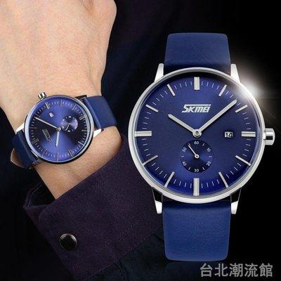 時刻美防水石英錶 韓版時尚復古男士手錶韓版皮帶學生男錶腕錶男