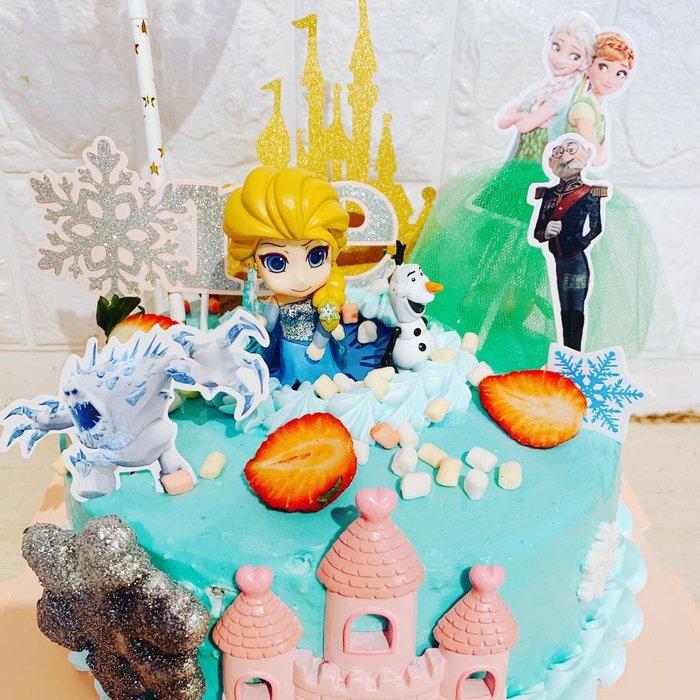 ❤歡迎自取 ❥ 雪屋麵包坊 ❥ 冰雪奇緣系列 ❥ Q版愛莎 ❥ 八吋生日蛋糕 ❥❥ 85 折優惠中