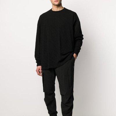 UNRAVEL PROJECT crease-detail oversize sweatshirt 男摺痕細節衛衣 限時折扣代購中