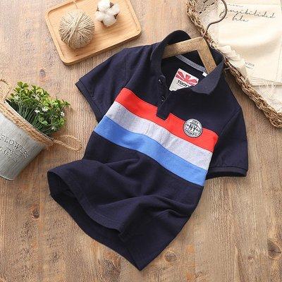 【Mr. Soar】 F379 夏季新款 歐美style童裝男童短袖POLO衫 中大童 現貨