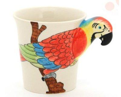 5Cgo【鴿樓】會員有優惠 37087869124 個性立體可愛動物陶瓷水杯咖啡馬克杯子創意禮物