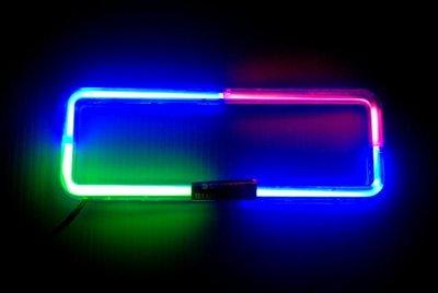飛馳車部品~5車用音響主機音感霓虹燈框(也可長亮)1DIN 三色紅藍綠 絕版貨特價 數量有限售完為止 新北市