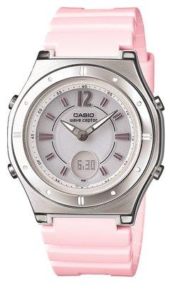 日本正版 CASIO 卡西歐 WAVECEPTOR LWA-M142-4AJF 電波錶 女錶 太陽能充電 日本代購