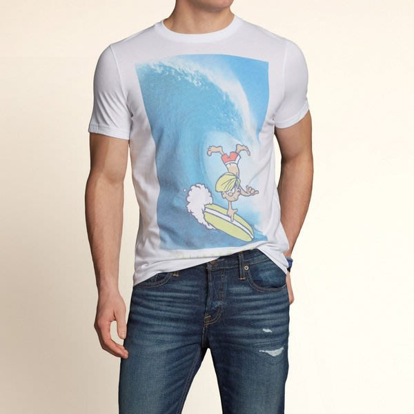 Hollister  VICTORIA BEACH T-SHIRT 淘氣阿丹海灘衝浪圓領T恤 現貨M號