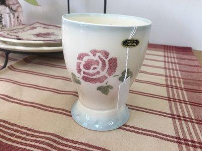 鄉村童話 Many 玫瑰 日本製 陶瓷 水杯 鈴聲