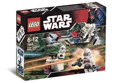 樂高 LEGO 星際大戰 Star Wars 7655 Clone Troopers Battle Pack 現貨~