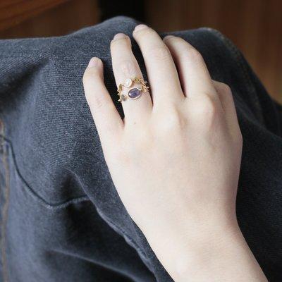 輕奢首飾~HeyJewel Spoiled Brat 彩色精靈 寶石珍珠圓片14K注金戒指