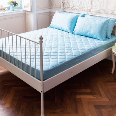 《天空藍》MIT台灣精製❤標準雙人5x6.2尺》3M防潑水防蟎抗菌床包式保潔墊鋪棉加厚版 新北市