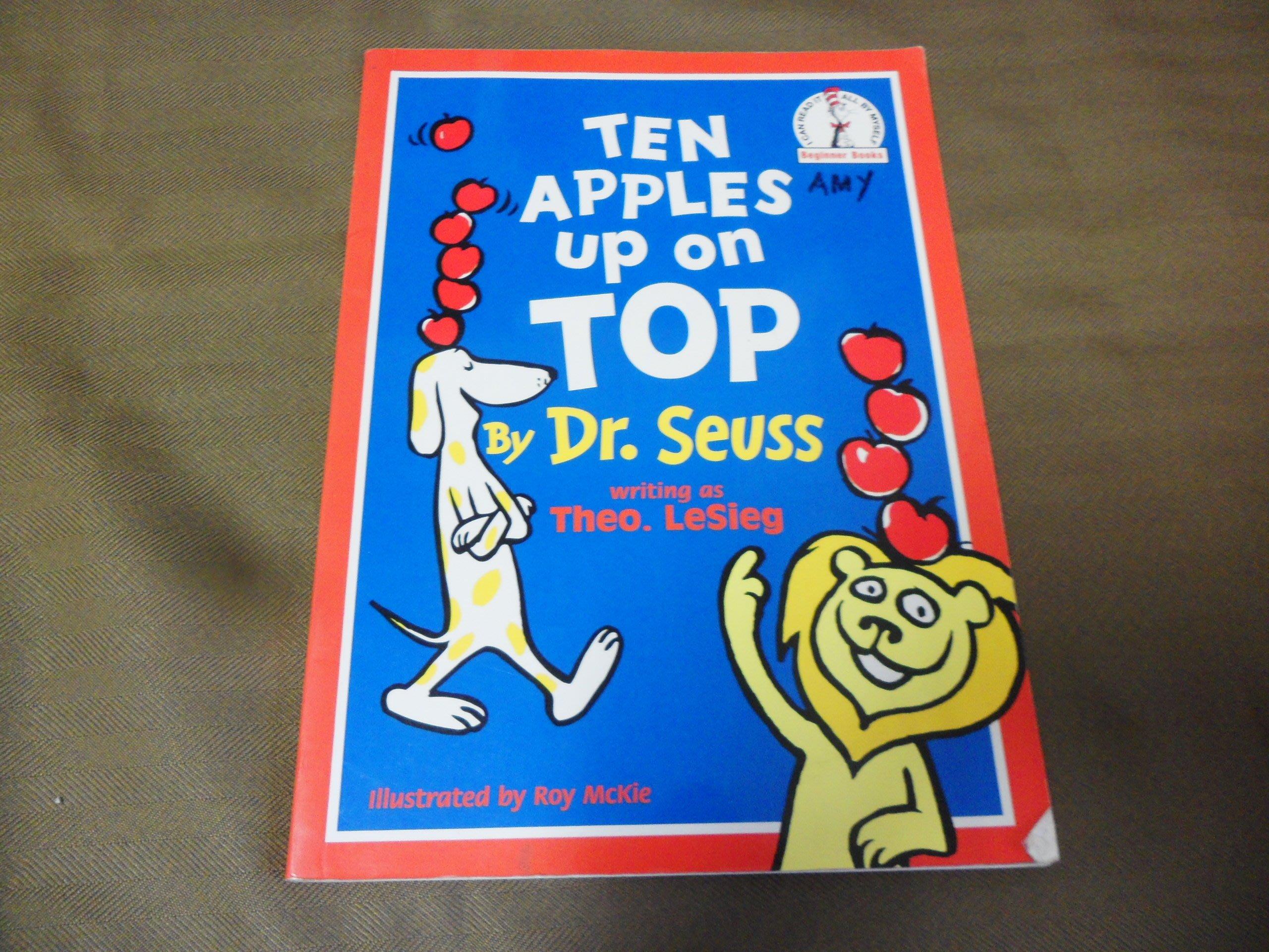 【彩虹小館】L3英文童書~TEN APPLES UP ON TOP ~Dr. Seuss