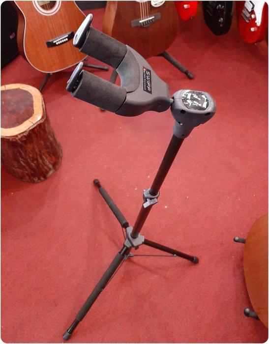 ♪♪學友樂器音響♪♪ SWIFF U4 吉他架 重力自鎖式 木吉他 電吉他 貝斯
