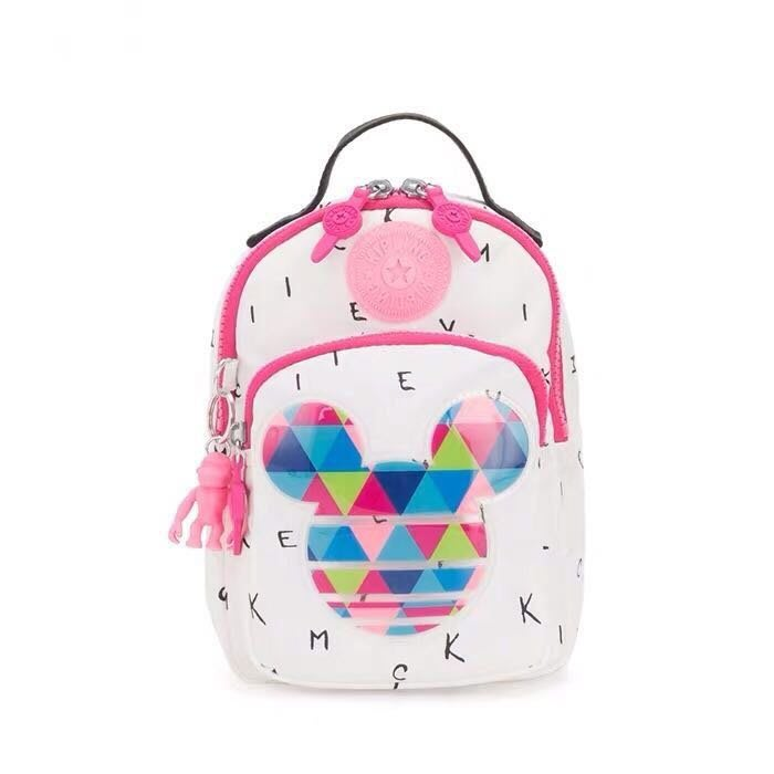 Kipling x Disney 猴子包 白底字母米奇 K10351 多用拉鍊款輕量斜背/後背/肩背包 出遊 旅行 隨身包 限時優惠