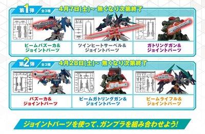 【模型屋】鋼彈創鬥者 潛網大戰 2018 BANDAI HG CUSTOMIZE CAMPAIGN 武器組 武器套件6種