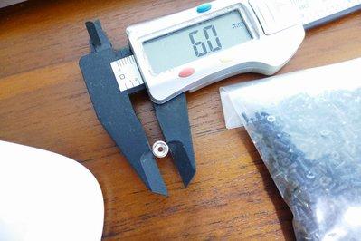 @萬磁王@最小最迷你的帶孔強力磁鐵-6x2mm(單孔1.8mm )附贈螺絲