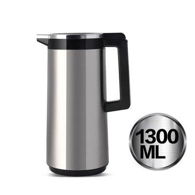 保溫壺家用玻璃內膽熱水瓶不銹鋼外殼暖壺大容量按壓保溫水壺