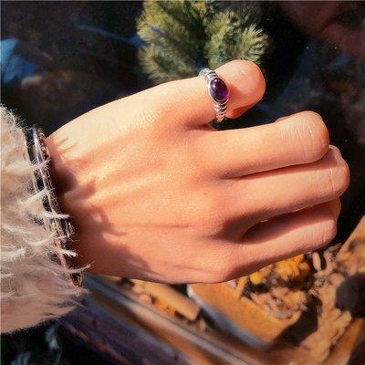 DK正韓福祿堂開運商城RAY ADAKAI x WHEEL WORKS 老印第安天然蛋面紫水晶 925純銀戒指